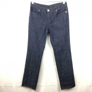 Tory Burch Straight Fit Jeans Sz 29 Dark Wash